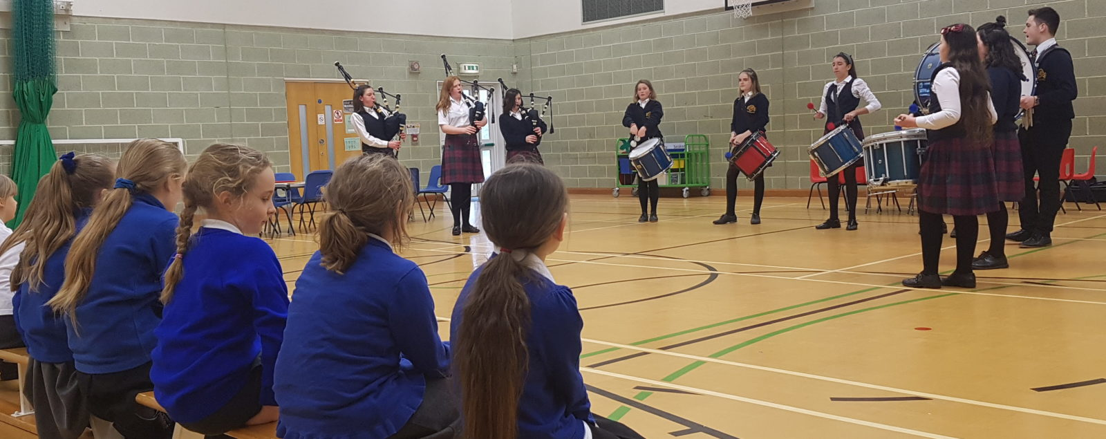 The Buckswood Pipe Band Workshop in the Local Community