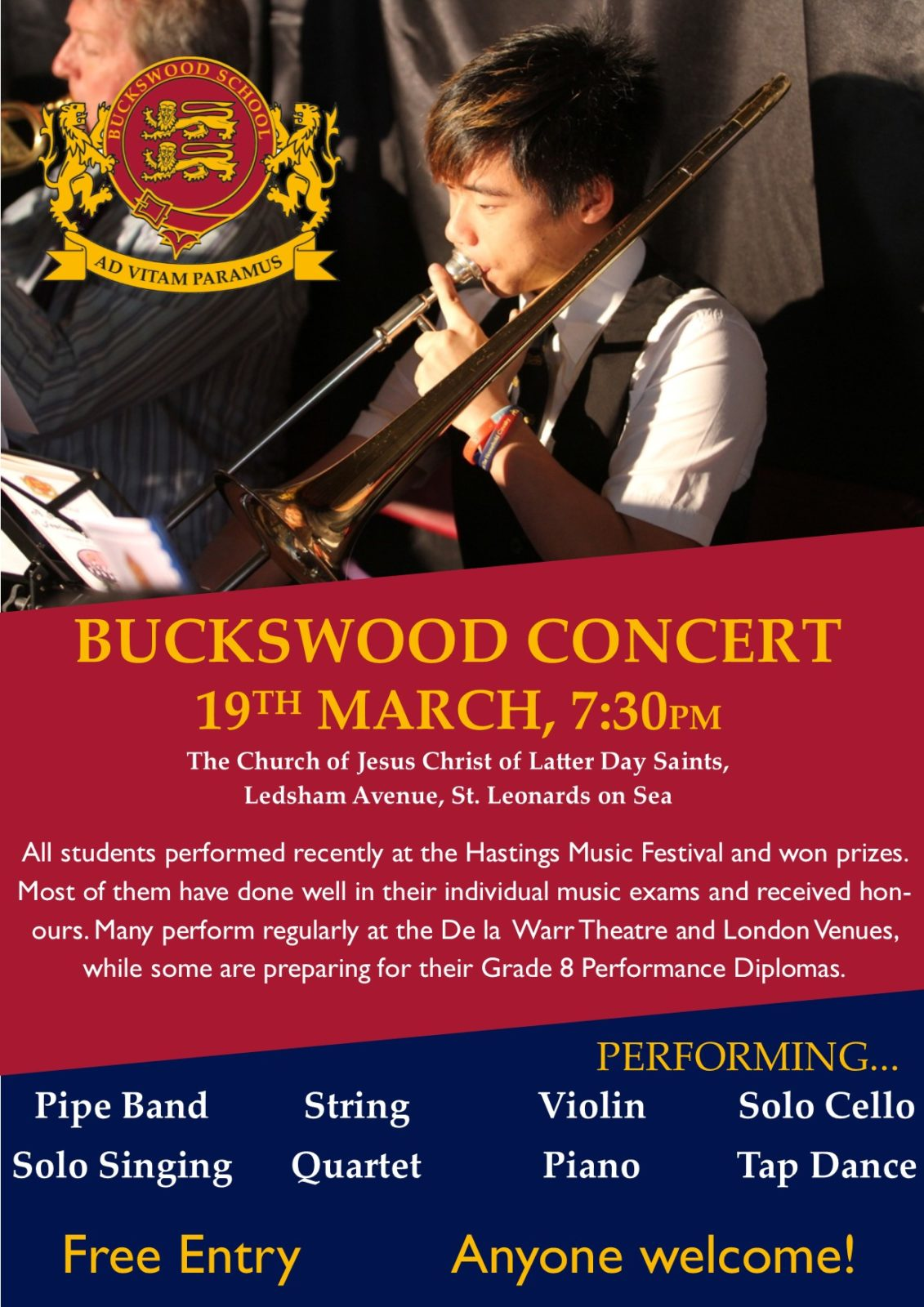 Buckswood Music Department Blow their Trumpets for Upcoming Concert