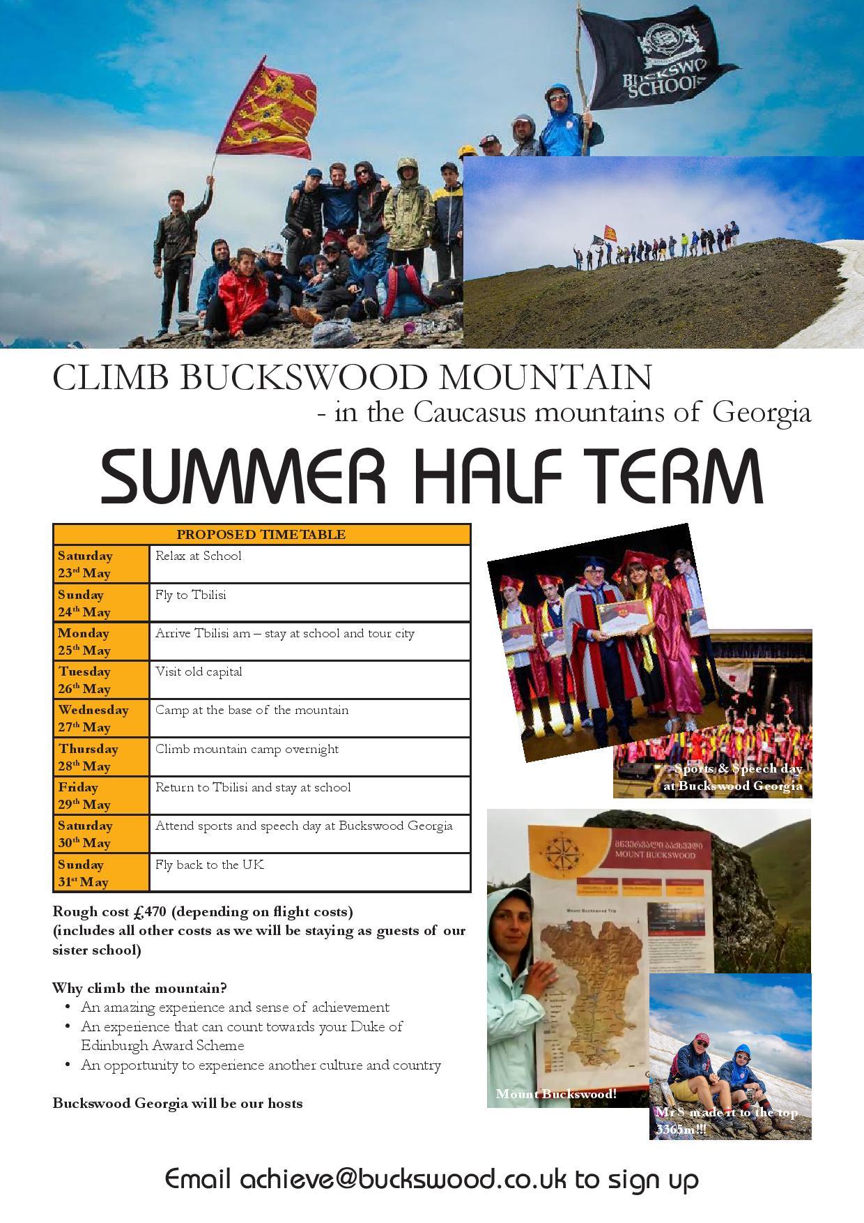 Climb Mount Buckswood
